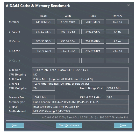 Share your AIDA 64 cache and memory benchmark here | Page 27