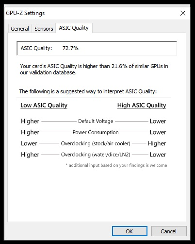 Post your gpu's ASIC quality | Page 22 | TechPowerUp Forums