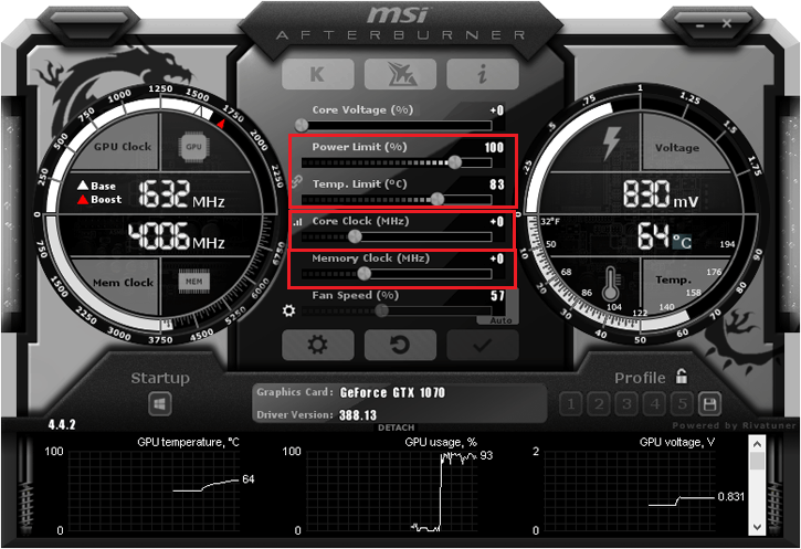 Overclocking a GTX 1070 Ti with Afterburner, pushing it higher