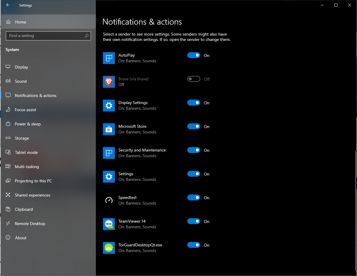 SOLVED] Windows 10 v1809 notifications suddenly doesn't show