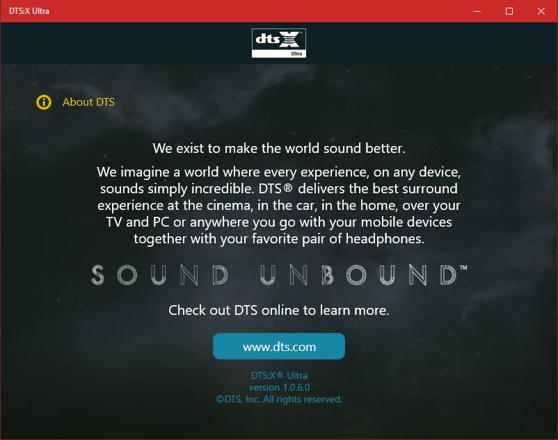 Dts Sound Windows 10