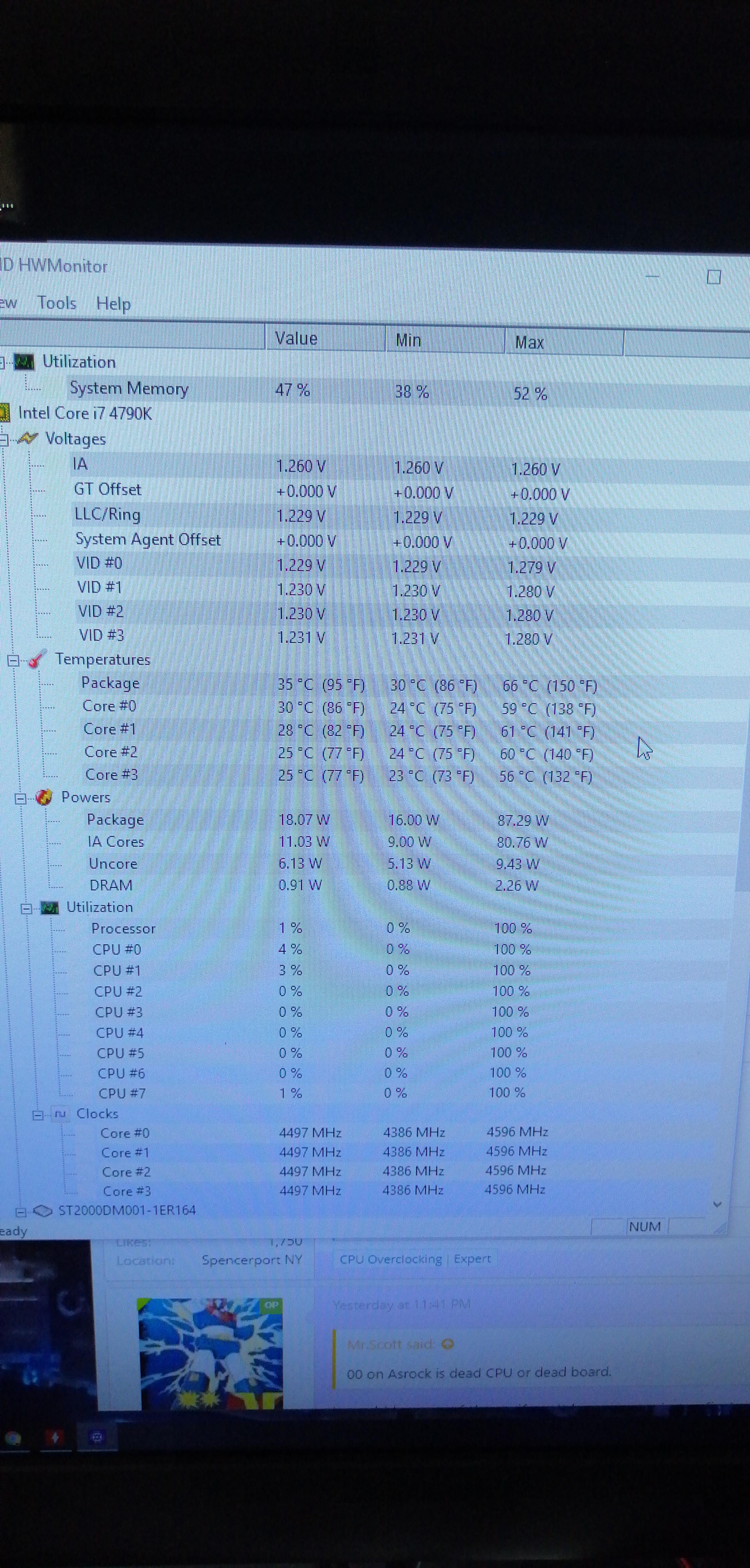 Z97 Extreme6 Motherboard suddenly debug code 00 i7 4790k