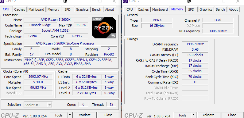 Can't oc my ryzen 5 2600x to + 4 0ghhz | TechPowerUp Forums