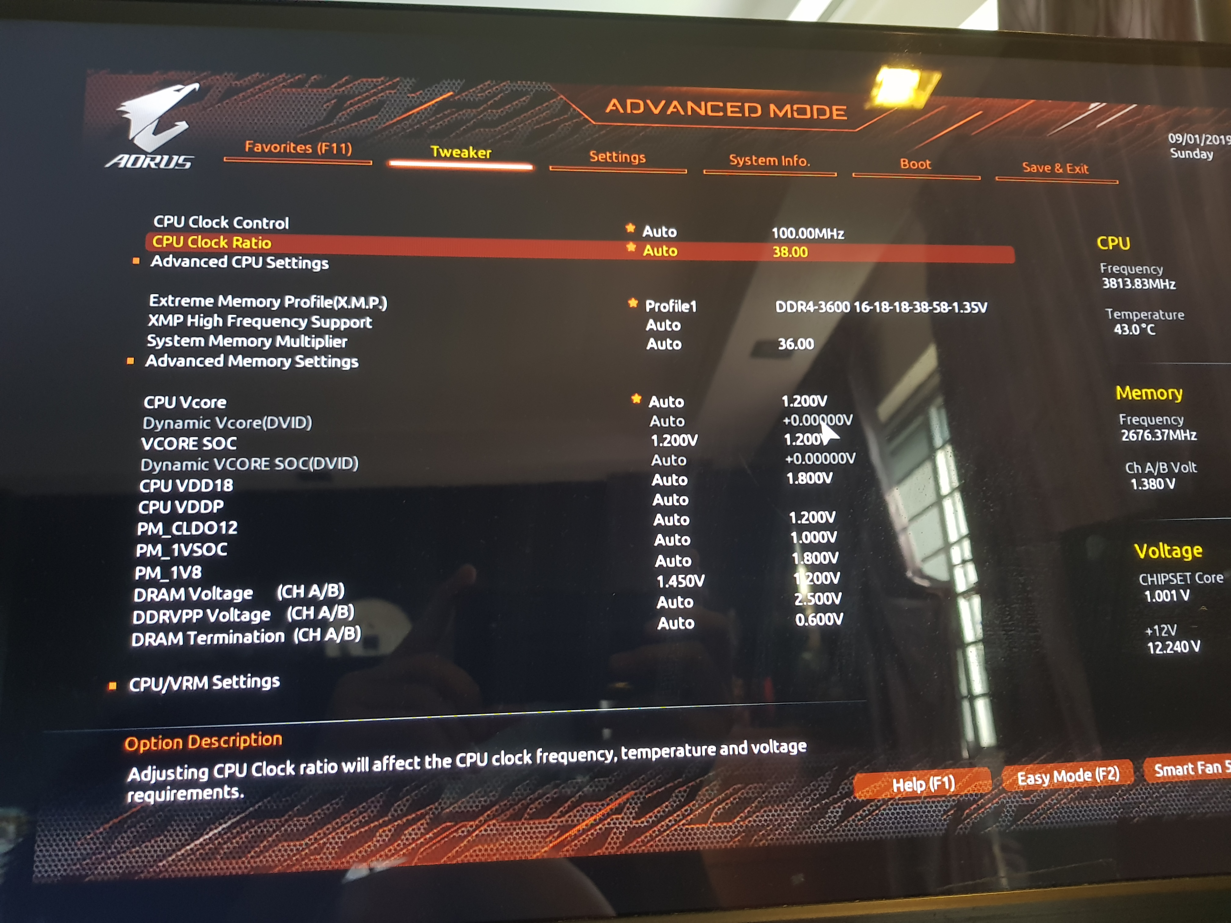 Ryzen 3900X can't clock 1800MHz Infinity Fabric with 3600
