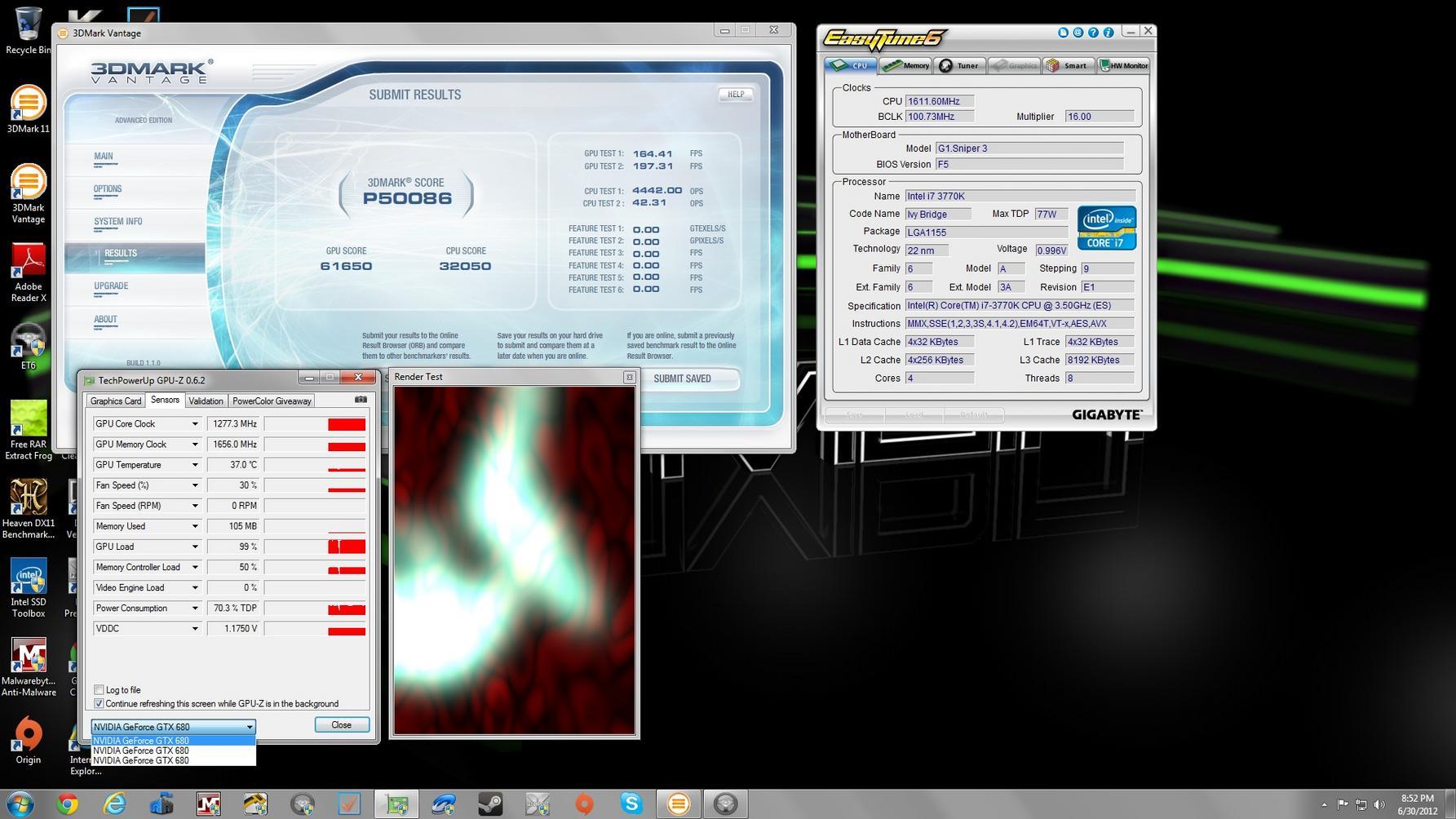 3DmarkVantage P50086 GPU61650.jpg