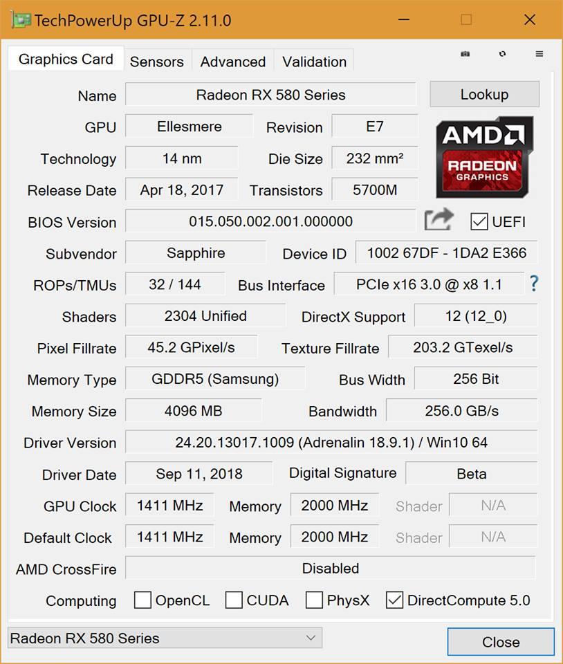 GTX 980 vs RX 580 4GB | TechPowerUp Forums