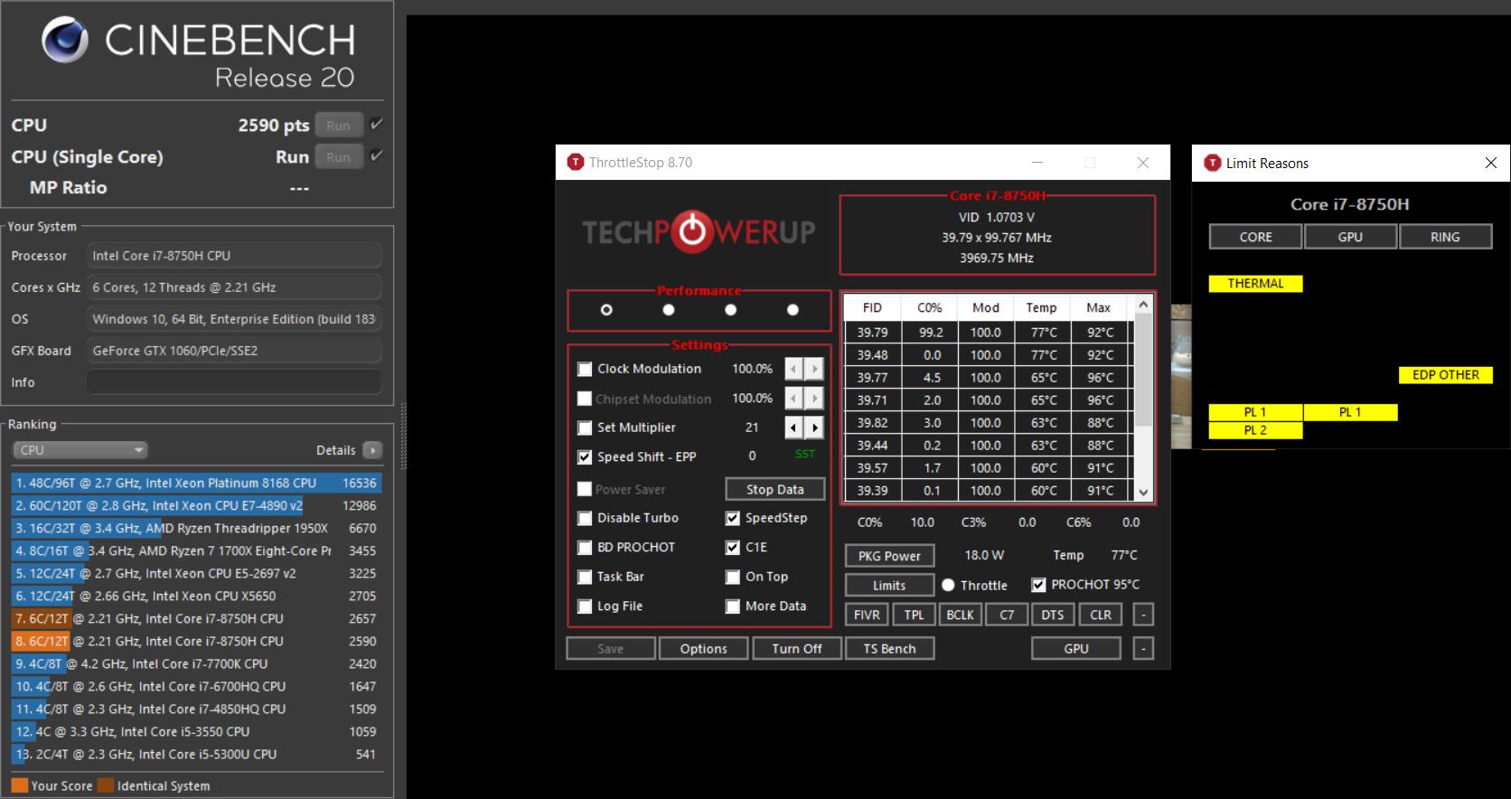 i7-8750H ThrottleStop help request (ASUS TUF FX505GM