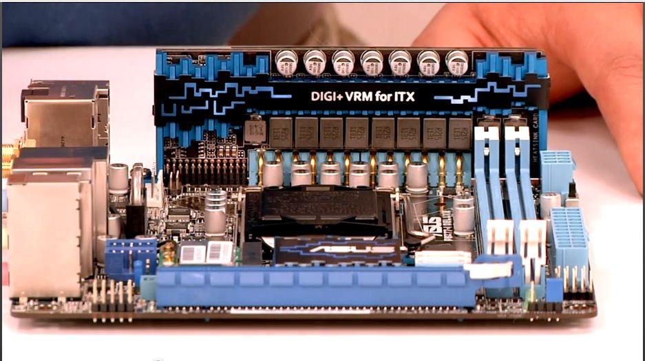 Asus P8Z77-I Deluxe VRM Daughterboard front.jpg