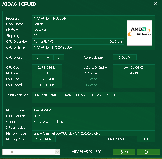 Athlon XP 2500+ OC to 3000+ DDR333 single channel CPUID.PNG