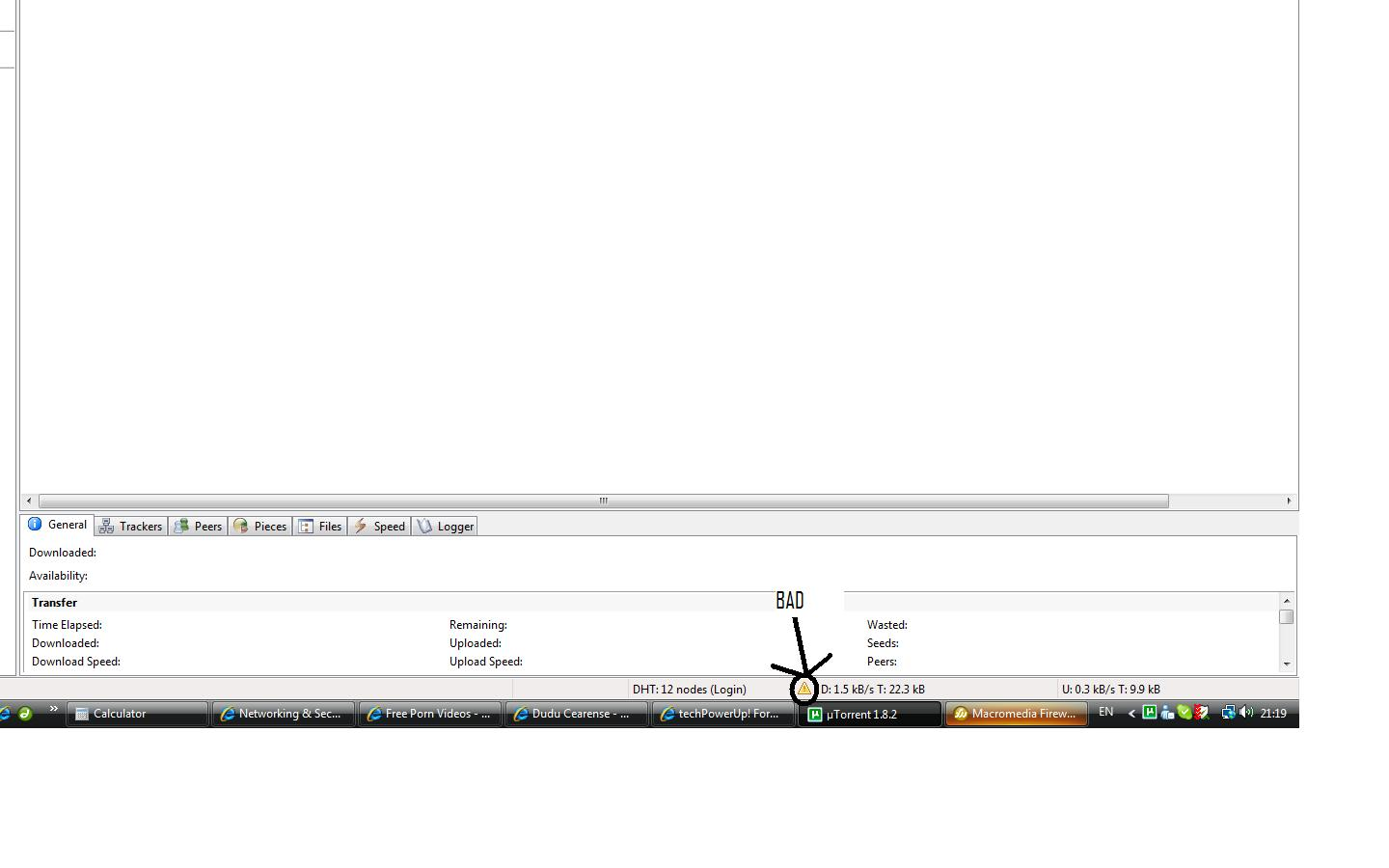 Utorrent confusing me - giving me conflicting information