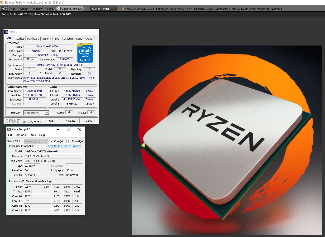 THREAD CLOSED!!! Post Your AMD RyZen Blender Benchmarks at