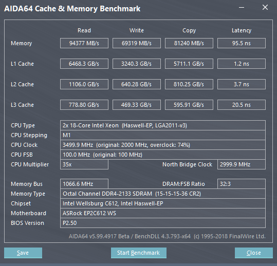 Share your AIDA 64 cache and memory benchmark here   Page 32