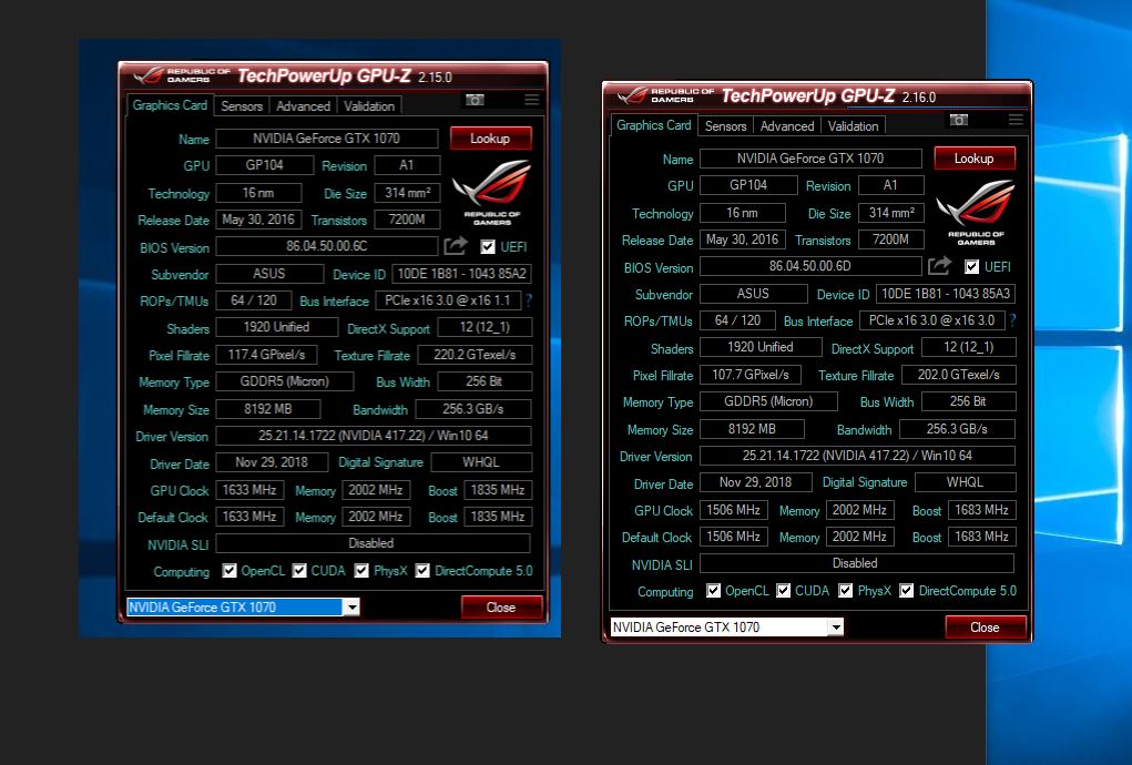 Asus Rog Strix 1070 (micron) BSOD, Freeze, Unfreeze | TechPowerUp Forums