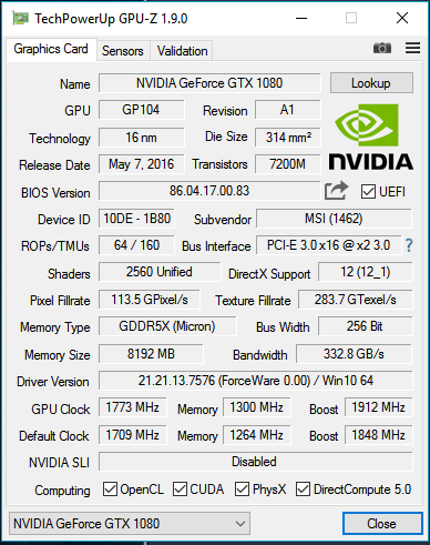 Flashing MSI 1080 Gaming X with Gaming Z firmware | TechPowerUp Forums