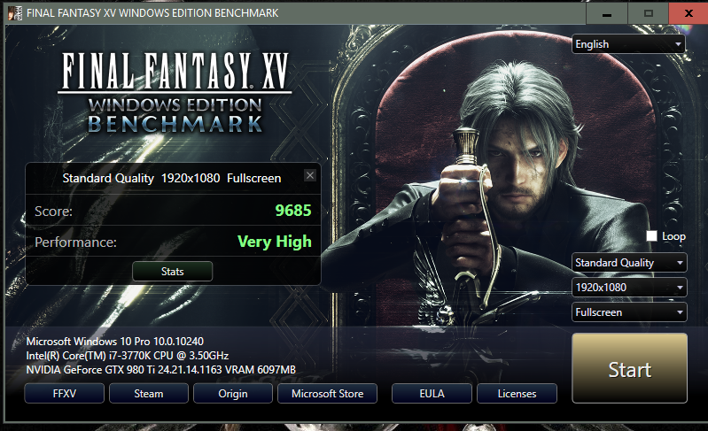 Post your Final Fantasy XV Benchmark Results | Page 21