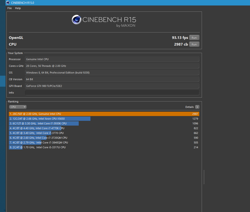 Post Your Cinebench Score Page 3 Techpowerup Forums I7 2600k 2nd Proc Only Capture3