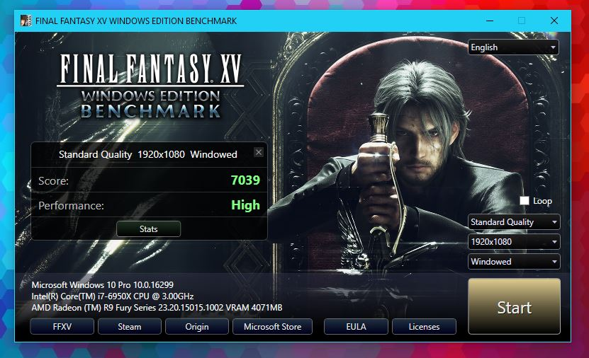 FINAL FANTASY XV Benchmark released   TechPowerUp Forums