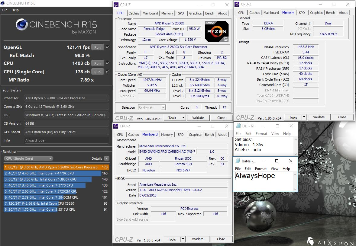 B450 MSI Gaming Pro Carbon AC + R5 2600X   TechPowerUp Forums