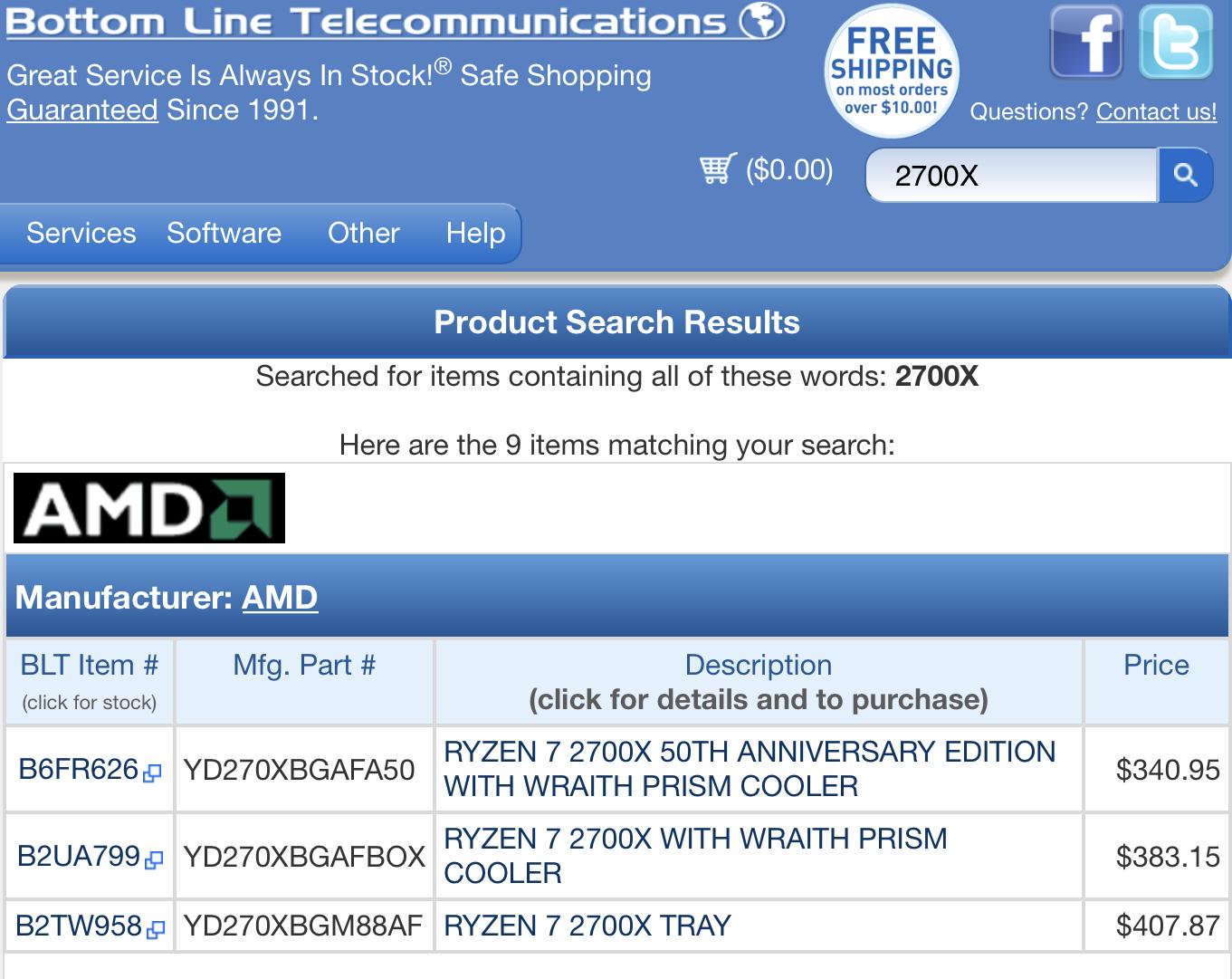 AMD Readies 50th Anniversary Special Edition Ryzen 7 2700X   TechPowerUp