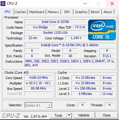 i5 3570k paired with a gtx 1070 or a rtx 2060  | TechPowerUp
