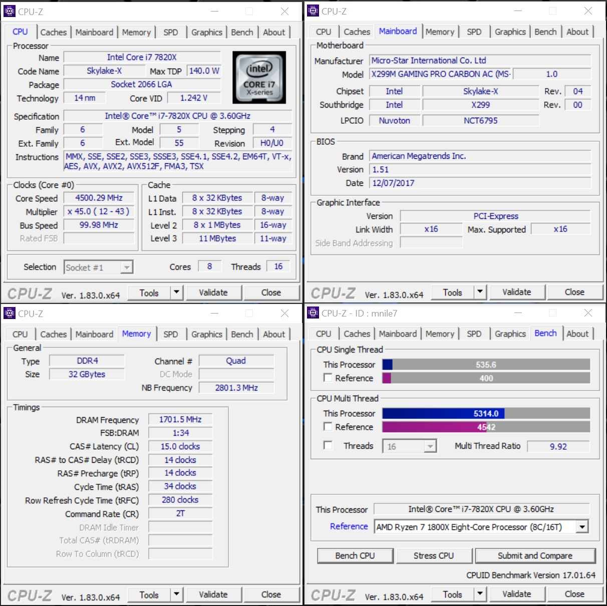 Share your CPUZ Benchmarks! | Page 47 | TechPowerUp Forums