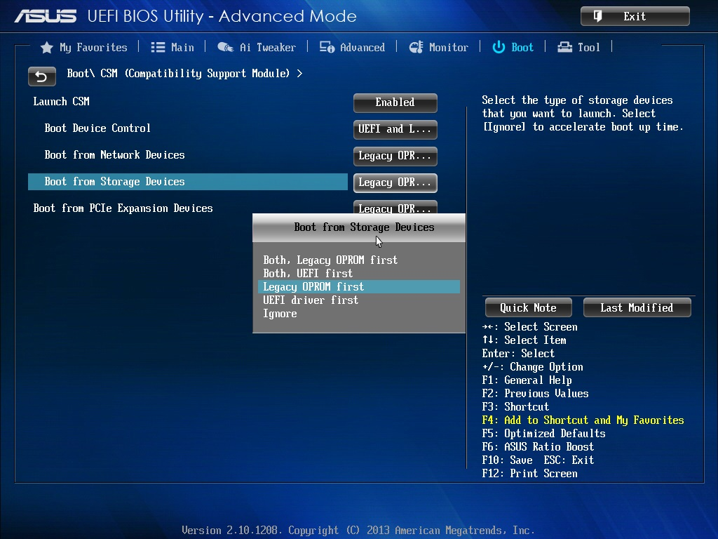 Questions about UEFI/BIOS and CSM settings before Linux