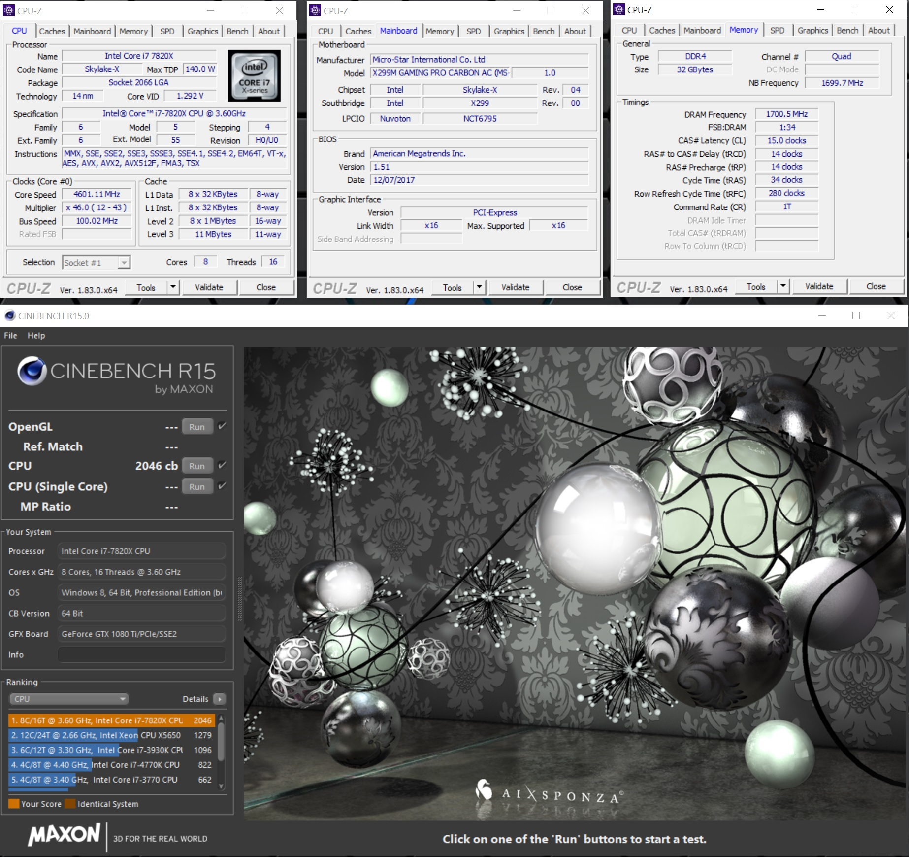 Dia01 - Conebench R15.0 (Mesh 32, CPU 4.6, 15-14-14-34 280 1T).jpg