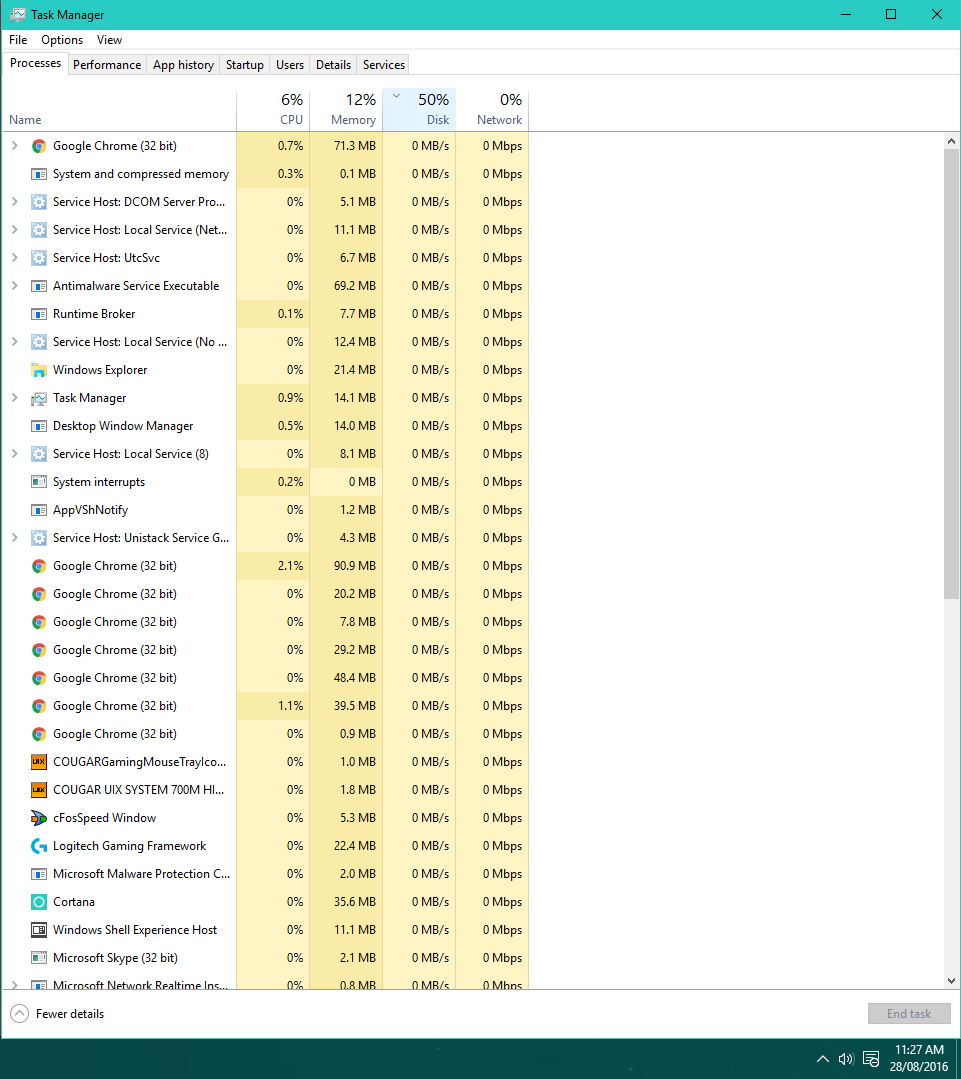 100% Disk Usage on my SSD while doing low-intensive work