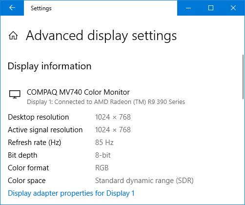HDMI/DP to VGA adapter - 1280x1024 75Hz & to show BIOS
