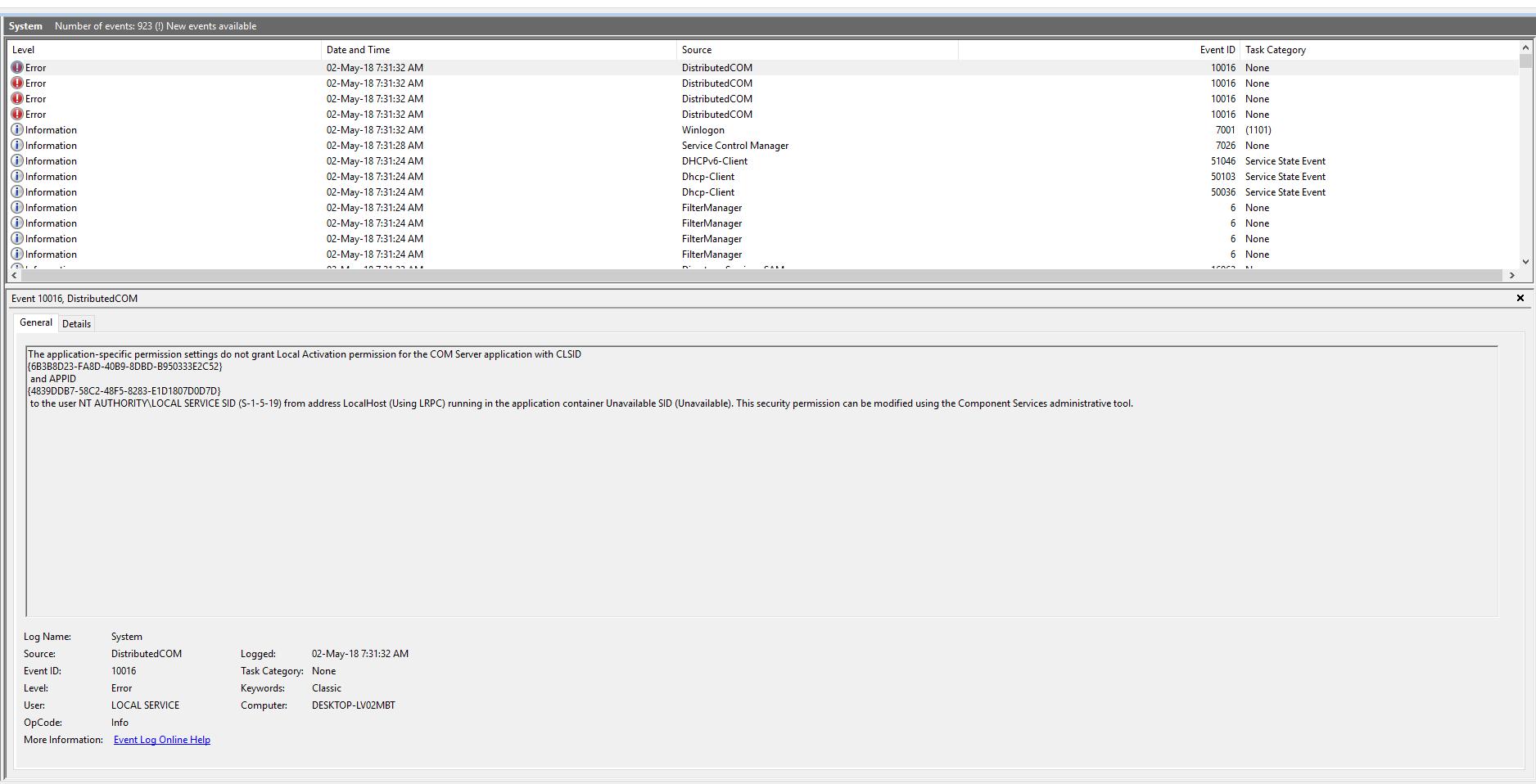 Distributedcom error makes my pc stuck!! | TechPowerUp Forums