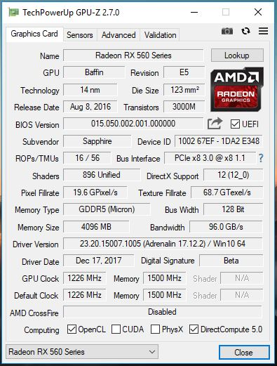 RX 560(but it's Baffin) flashed BIOS | TechPowerUp Forums