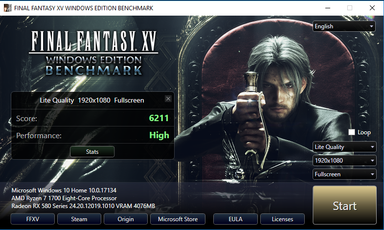 Final Fantasy 15 Test