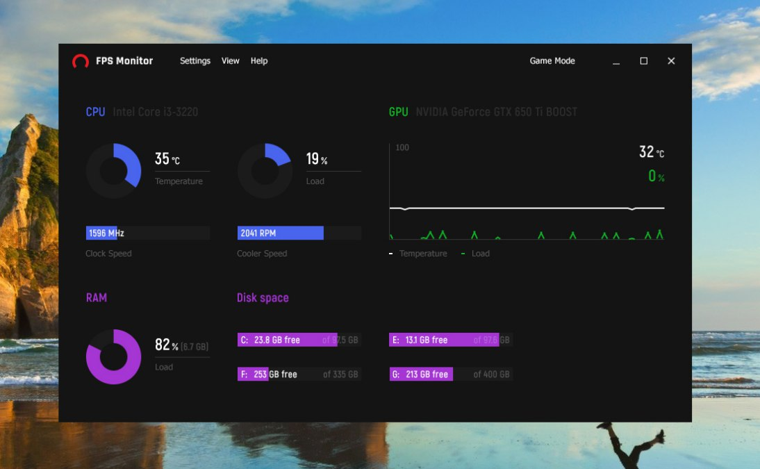 FPS Monitor (Ingame hardware monitoring overlay) | TechPowerUp Forums
