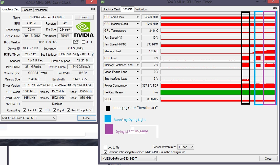 gtx660TI clock stuck at idle freq (324MHz) | TechPowerUp Forums