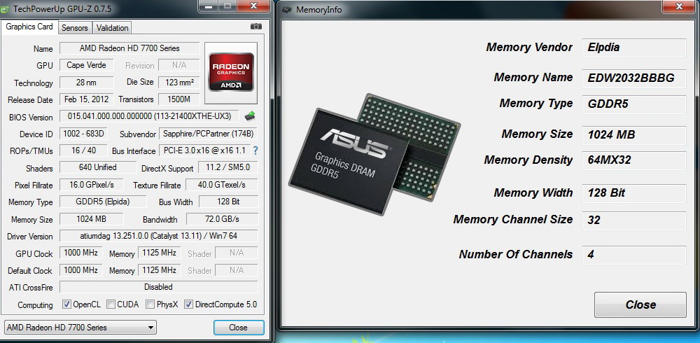 GPU-Z Test Build] Memory module vendor detection
