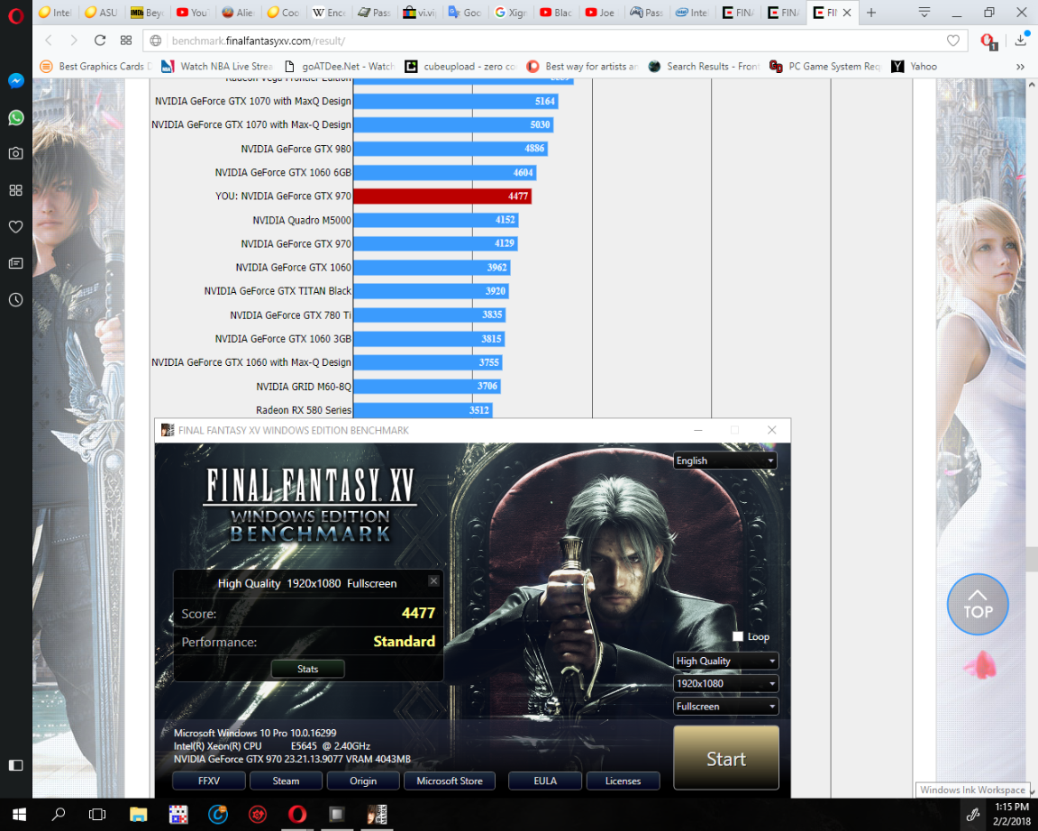 FINAL FANTASY XV Benchmark released | Page 2 | TechPowerUp Forums