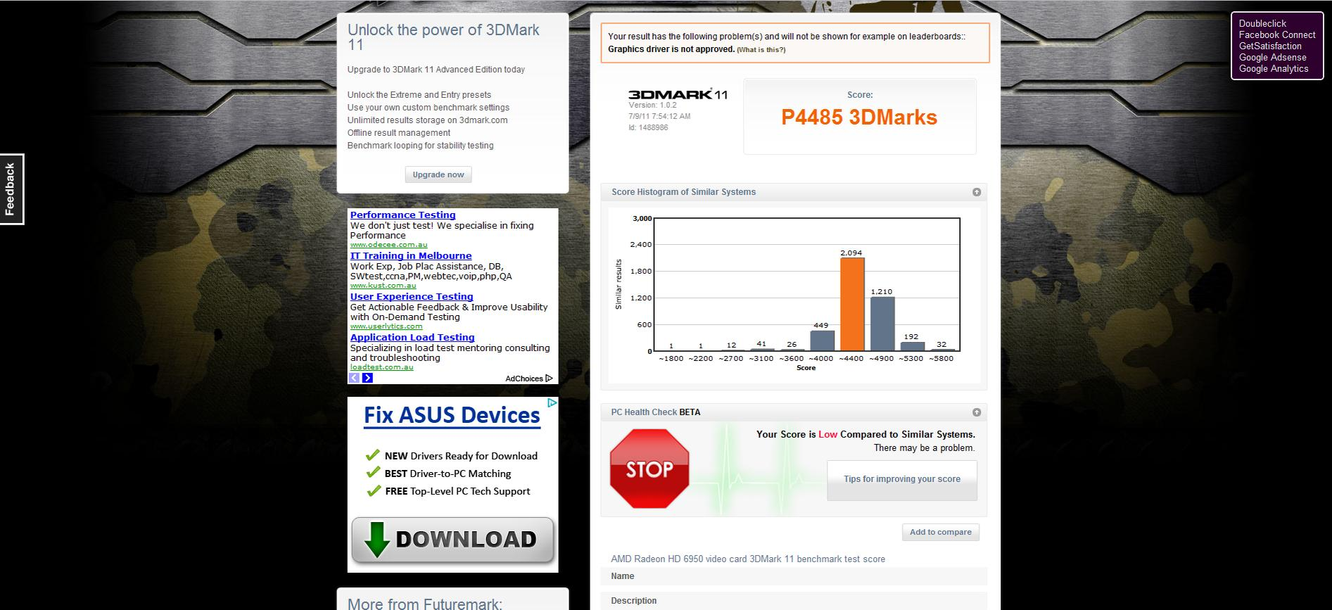 Hello Why Is My Amd Overdrive Score So Low Techpowerup Forums