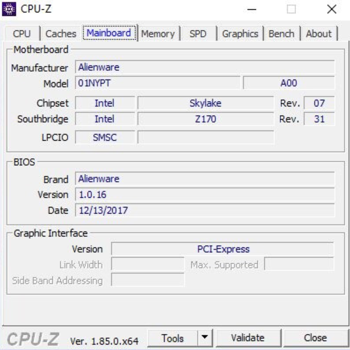 Issue with CPU-Z, GPU details not showing  GTX 1080 Memory