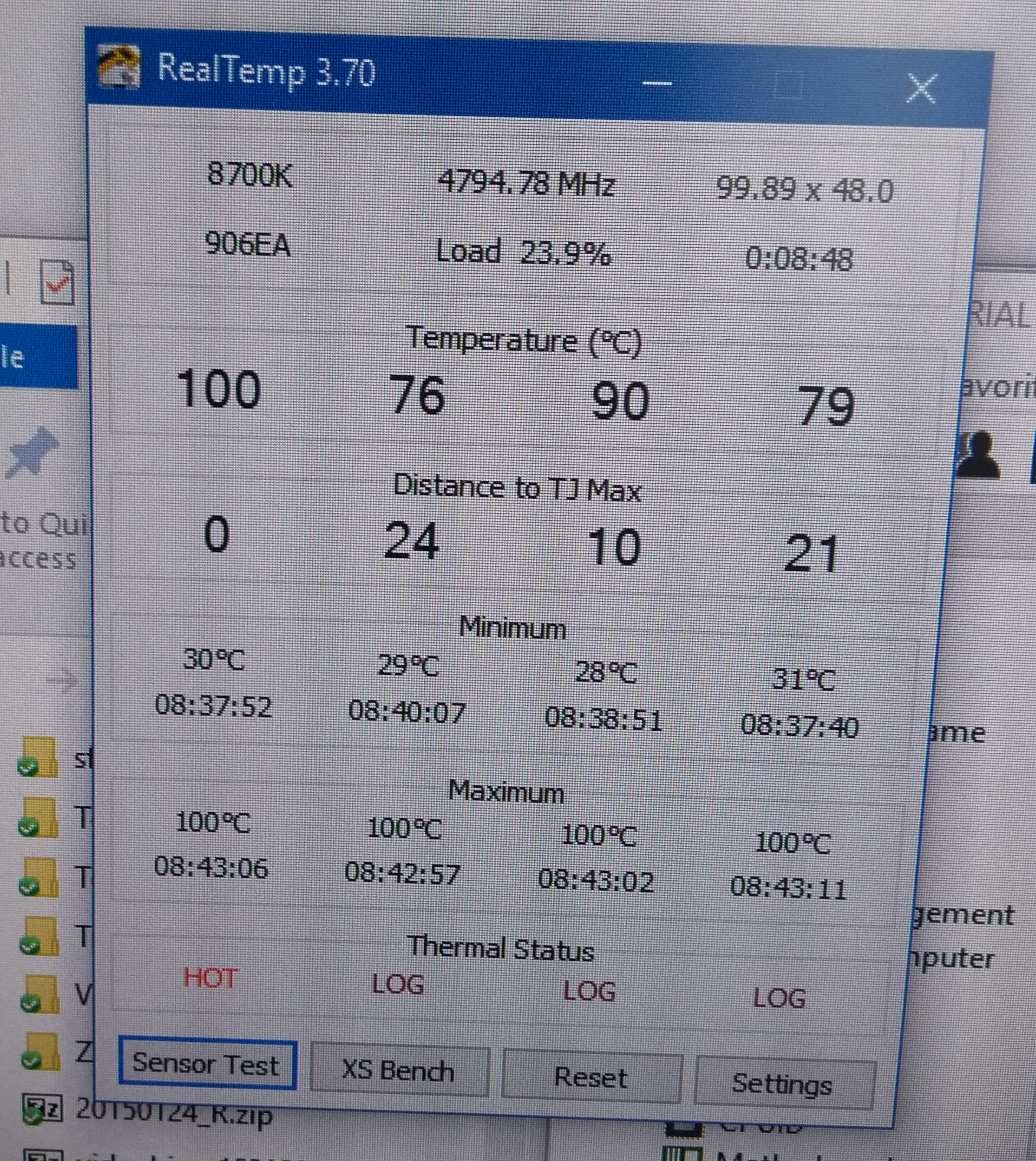 High temperatures on my 8700k | TechPowerUp Forums