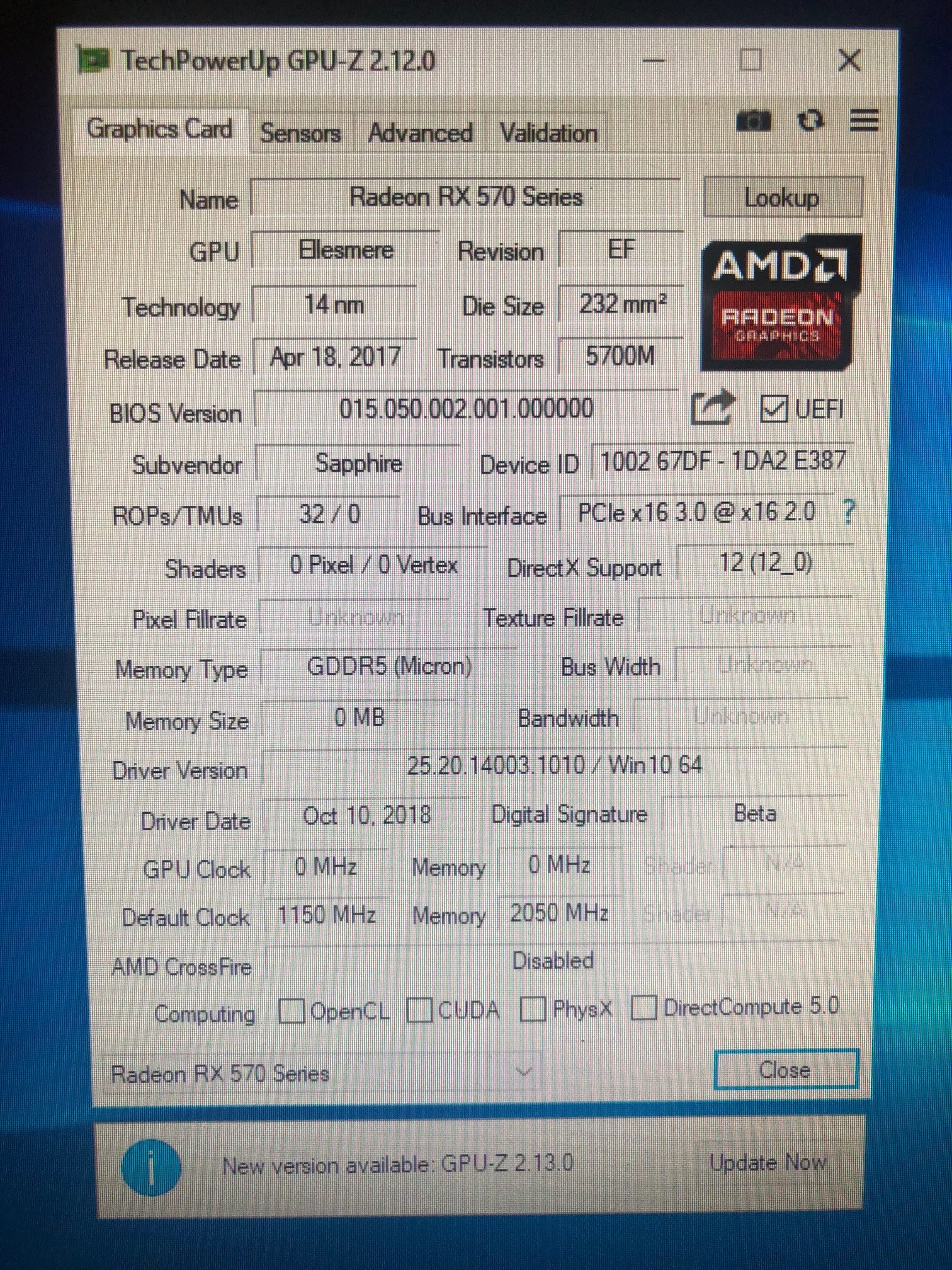 Need Help - crashed my RX 570 4GB Bios | TechPowerUp Forums
