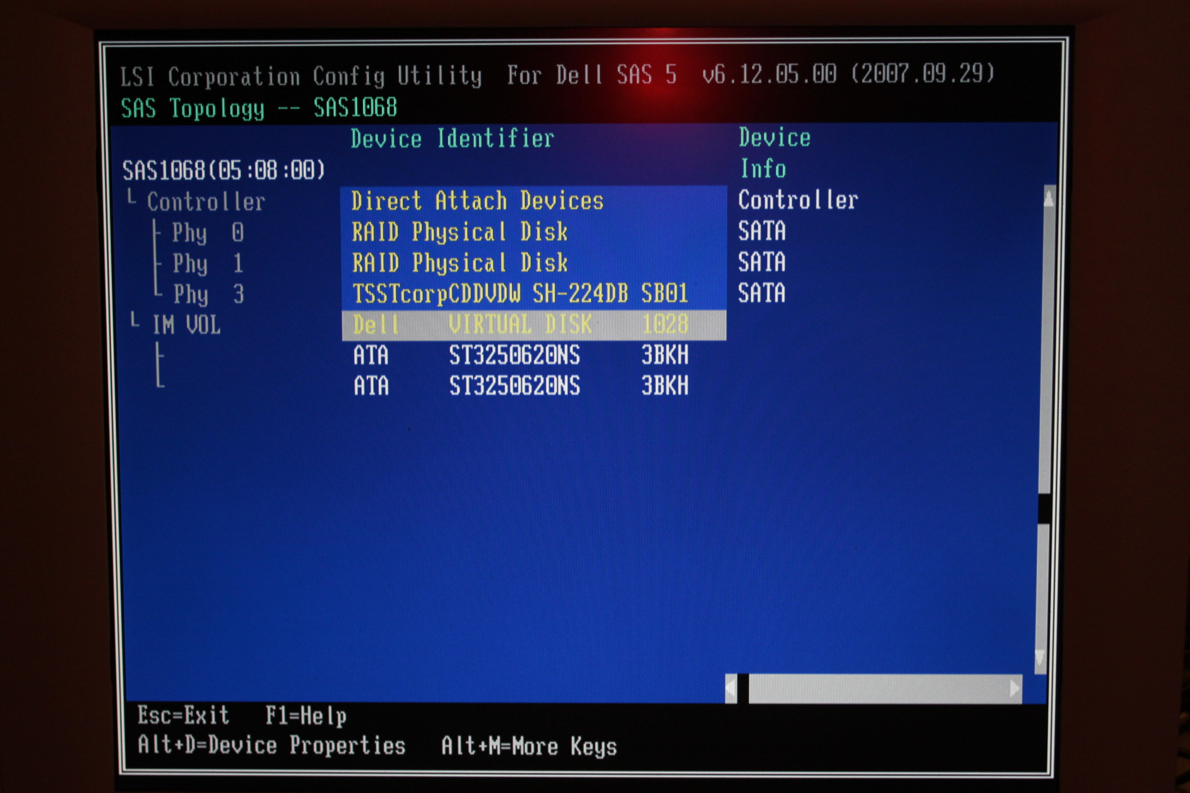 Dell Poweredge SC1430: Win cannot be installed to this disk