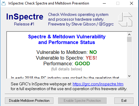 Performance Impact on Windows Systems with Spectre and