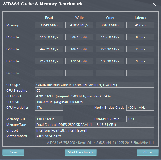 Share your AIDA 64 cache and memory benchmark here | Page 26