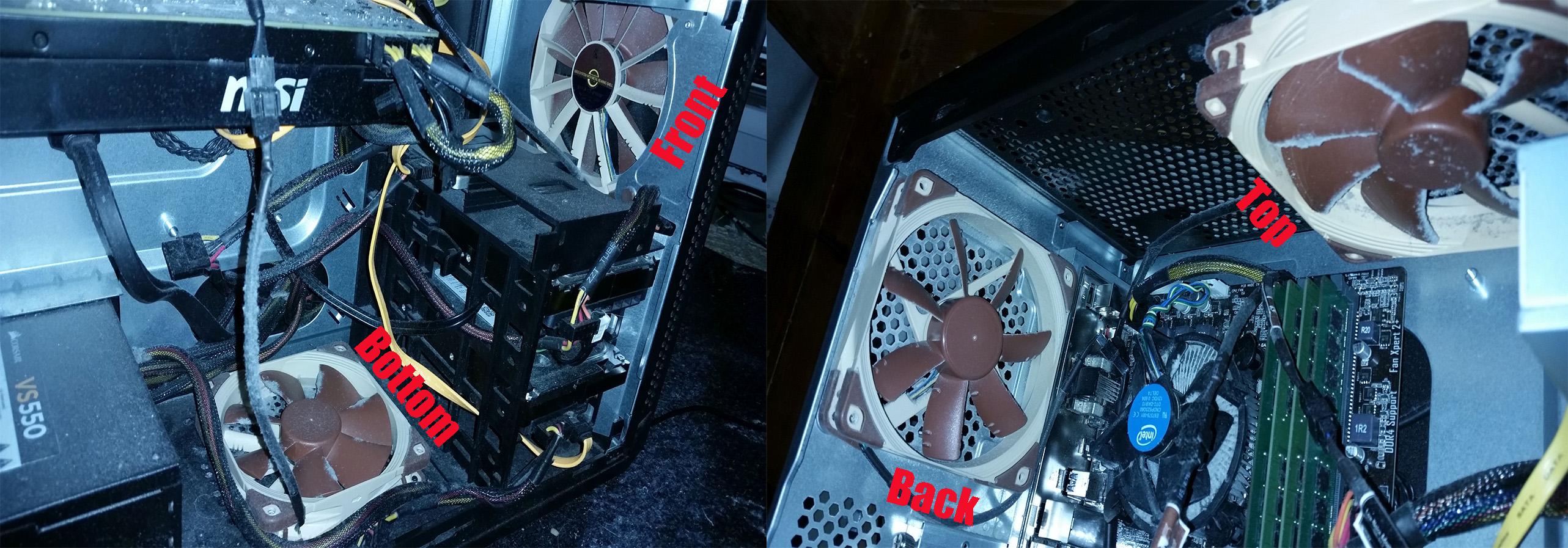 Wrong fan-setup?! Annoying