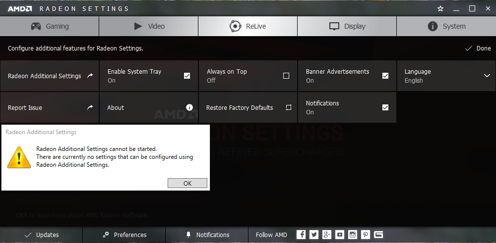 How to make Radeon Additonal Settings reappear! | TechPowerUp Forums