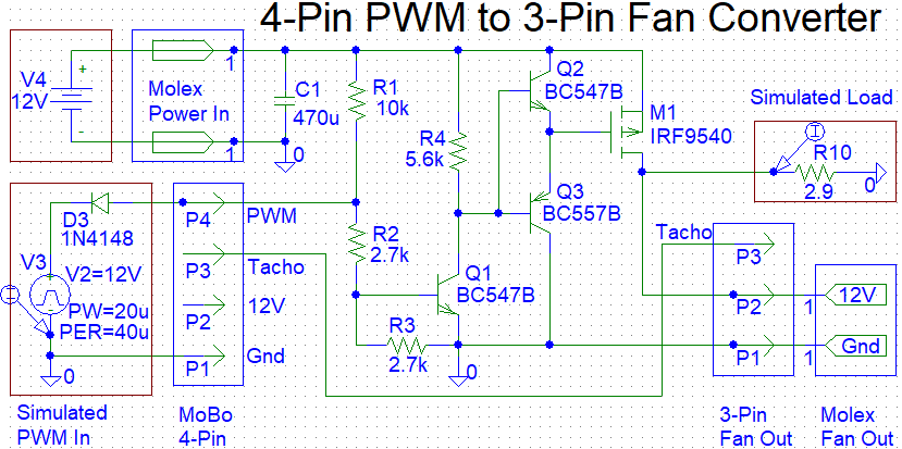 Controlling 3-Pin Fans (or Water Pump) using 4-Pin PWM