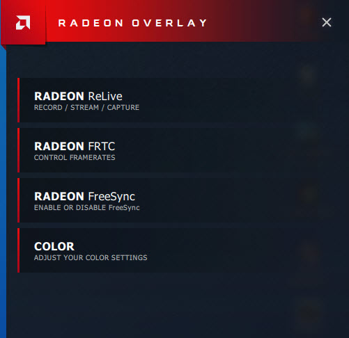 Radeon Overlay not displaying all options | TechPowerUp Forums