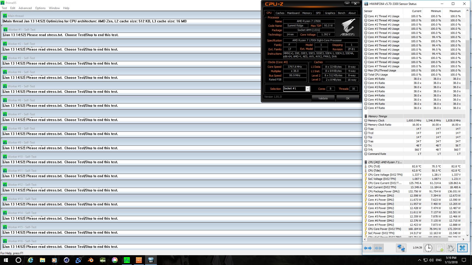 Ryzen 7 1700X @ 3.8GHz Prime95 score.jpg