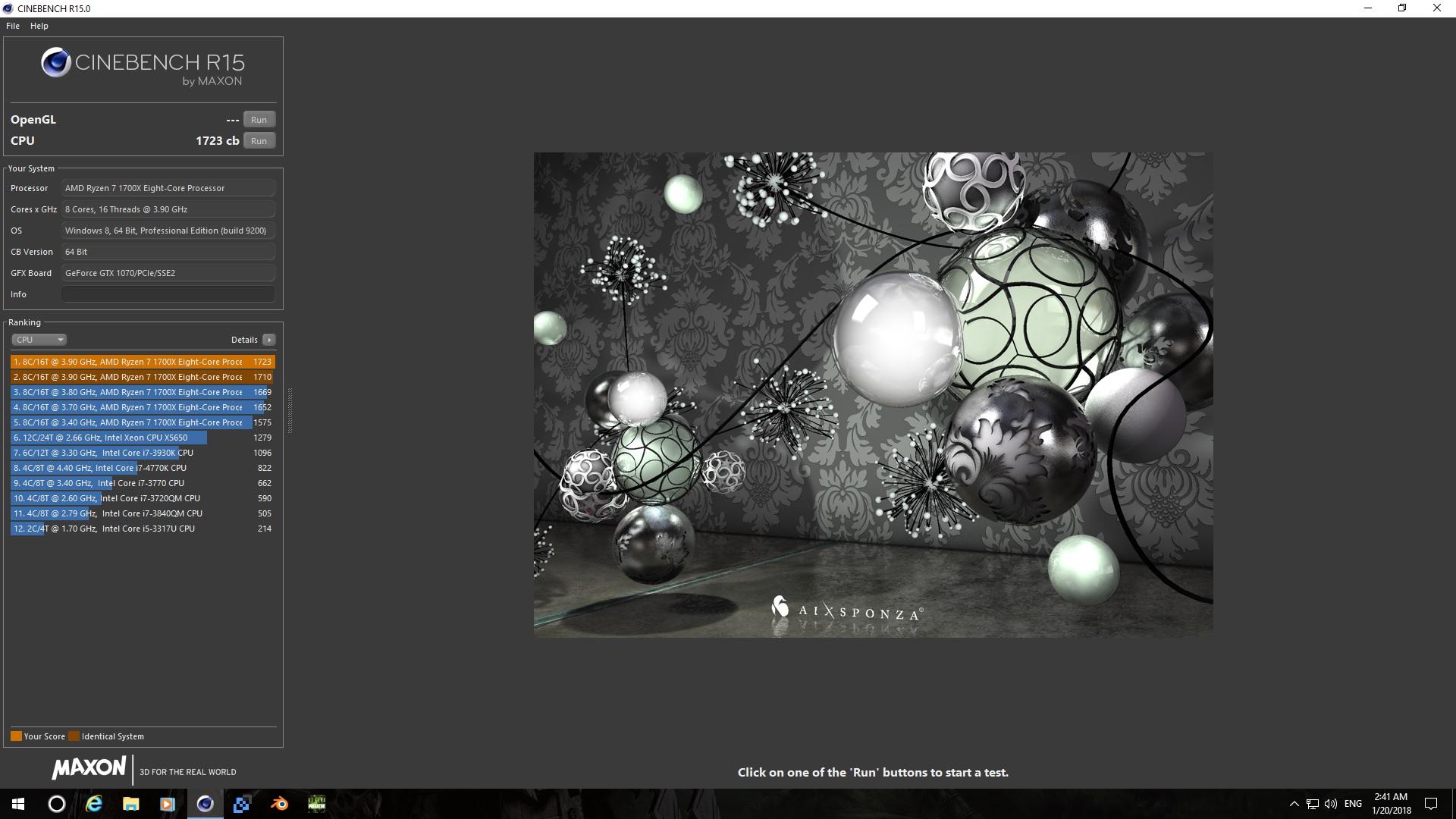Ryzen 7 1700X 3.9GHz Cinebench R15 score #2.jpg