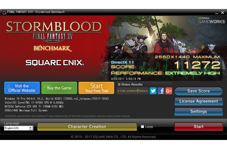 FINAL FANTASY XIV: Stormblood benchmark | TechPowerUp Forums